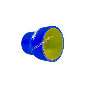 Патрубок силиконовый прямой 60-70мм, усиленный (4 слоя арм.)