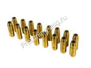 Втулки направляющие клапанов бронзовые 16V  ВАЗ 2110-2112, Калина, Приора, Гранта, Калина 2 (комплект 16 штук) (Изготовлены по ГОСТу)