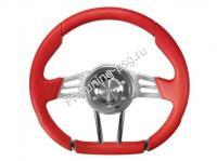 Руль Isotta VALLEUNGA красный кожаный (126 4 R)