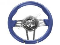 Руль Isotta VIGARANO синий кожаный (127 10 B)