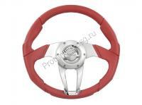 Руль Isotta ZULAG красный кожаный (134 4 R)