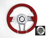 Руль Isotta VIGARANO красный кожаный (127 10 R)