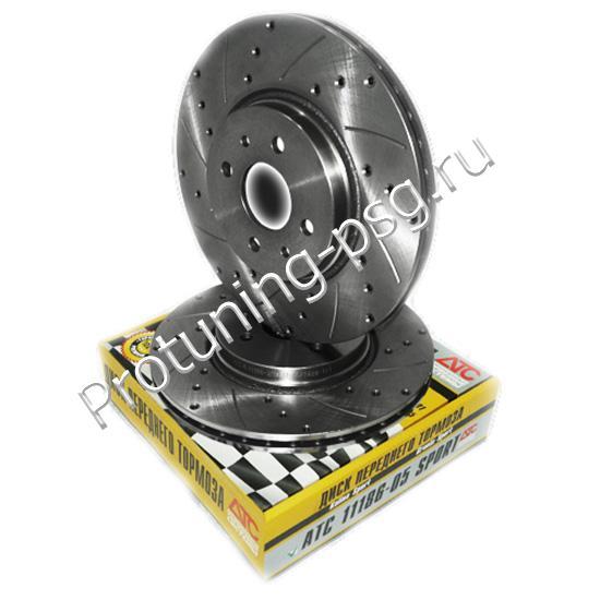 Диск переднего тормоза «АТС» R15 вентилируемый SPORT ВАЗ 11186 (комплект 2 штуки)