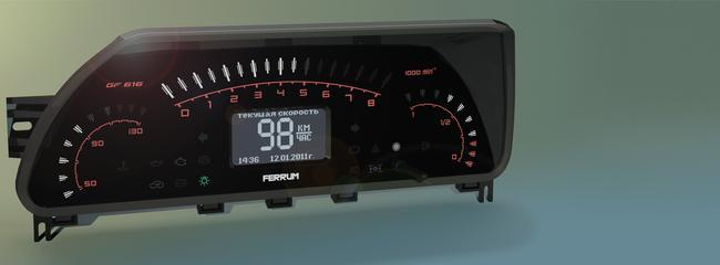 """Специально для любителей светодиодных приборных панелей группа компаний  """"FERRUM """" подготовила новую комбинацию..."""