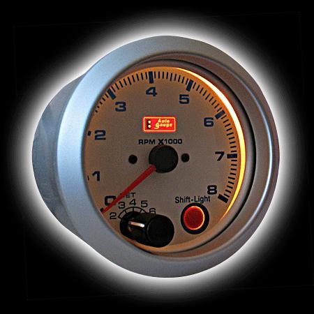 Тахометр (95мм) (0-8,000RPM) доп. внешняя вспышка от Auto Gauge.